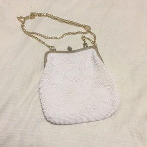 2/$40 Vintage pearl beaded clutch